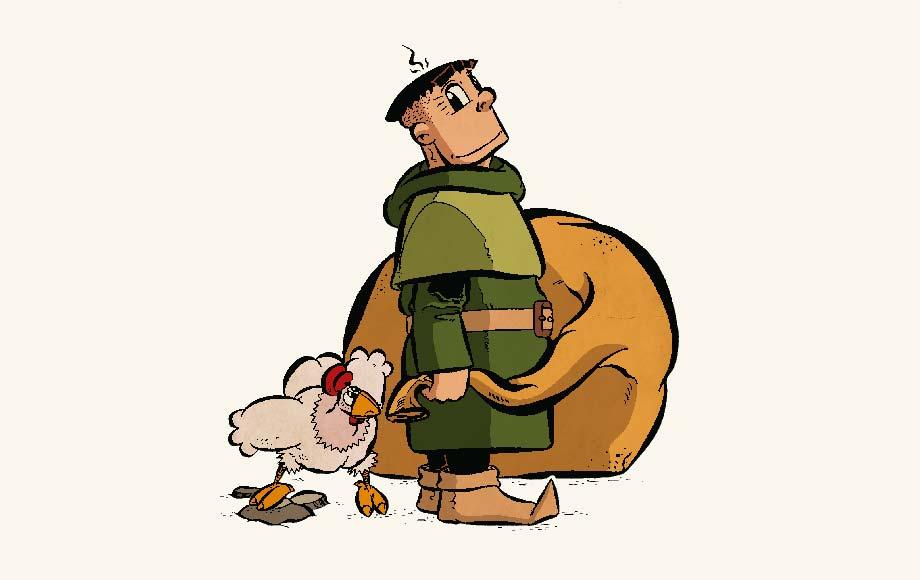 Adalbert und Huhn Ulrike (Online-Comic Ritter Randolf)