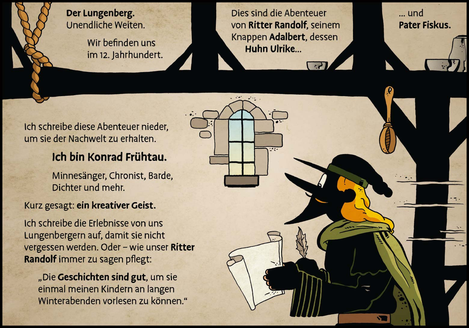 Band 1: Seite 1 (Online-Comic: Ritter Randolf)